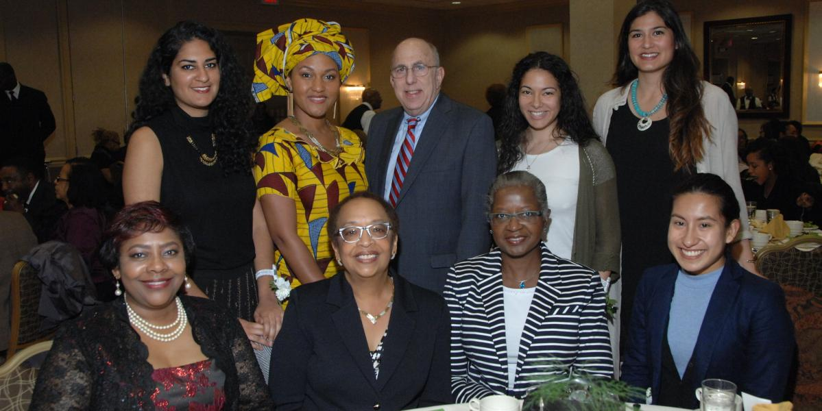 leadership and attendees of Women of Color event