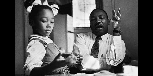 Yolanda King with her father Dr. Martin Luther King